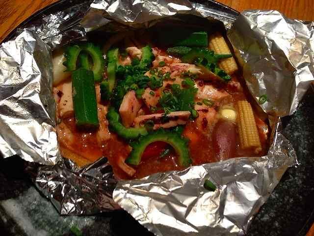スルメイカと夏野菜の下足わたホイル焼き.jpg
