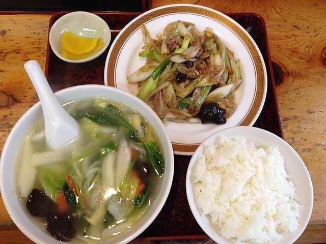 ネギ炒めと野菜スープ.jpg