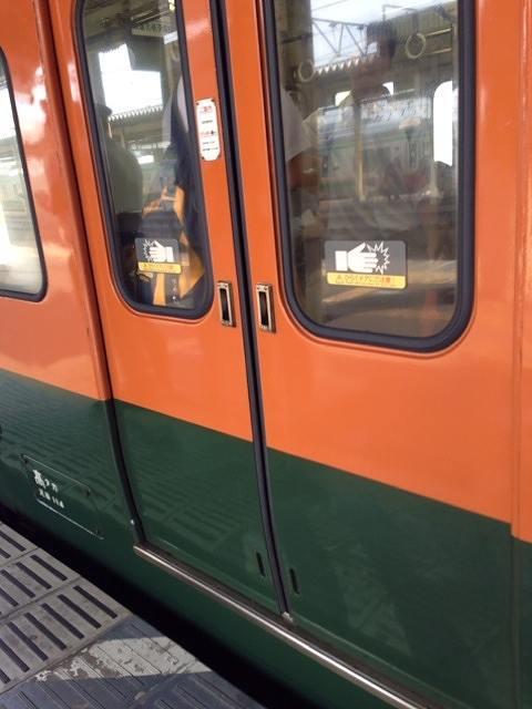 ボタンがないので手で開ける電車.jpg